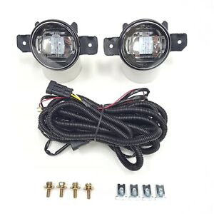 For 2007 2015 Nissan Altima Sedan Clear Fog Light Kit Led Drl With Wire Switch