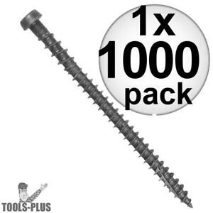 Quik Drive Dcu234sgr 1000pk 10x2 3 4 Gray Collated Composite Deck Screw New
