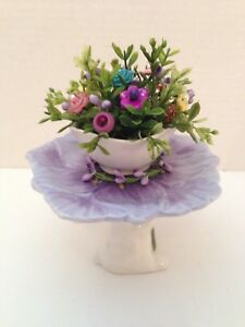 Easter Button Bokay Bunny Cake Stand Country Prim Shabby Cottage Chic Decor