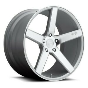 Qty4 19 Staggered Niche Wheels M135 Milan Silver Rims Ca