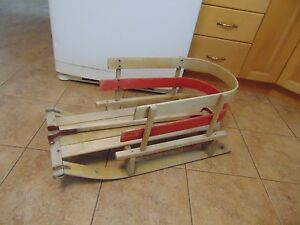 Vintage Wooden Baby Sleigh Nice 4029