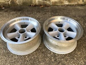 2 Vintage Et Alloy Torque Thrust Wheels Gasser Nostalgic Polished
