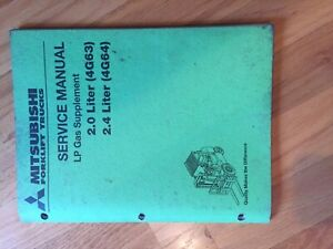Mitsubishi Engine Lp 2 0 2 4 Series Forklift Service Manual Truck