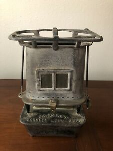 Vintage Union Sad Iron Heater Gardner Mass Antique Kerosene Oil Warmer Stove