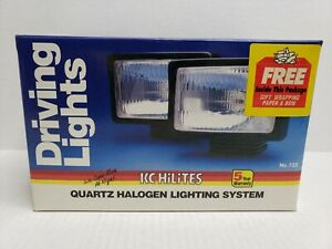 Rare Vintage Kc Hilites 7 Rectangular Driving Fog Lights 732 Black 1987 Nib Usa