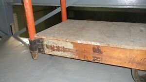 Antique Factory Railroad Cart Nutting 2
