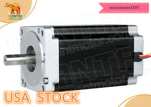 Usa Ship Wantai 1pc Nema34 Stepper Motor Single Shaft 85bygh450c 060 1700oz in