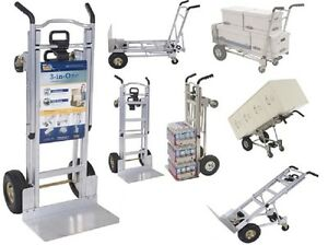 Hand Truck Dollies Convertible Aluminum Heavy Duty Folding Utility Pallet Cart