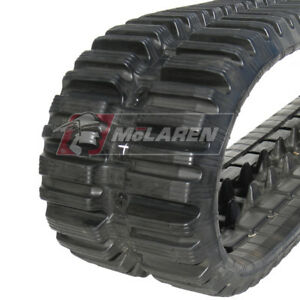 Promo Set Of Bobcat T590 400mm Track Loader Rubber Tracks Nextgen Tdf Multibar