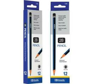 Bazic 2b Premium Wood Pencil 12 pack case Of 24