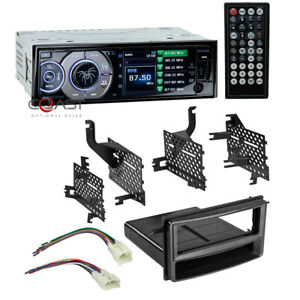 Soundstream 3 4 Lcd Radio Single Din Dash Kit Harness For 2007 14 Toyota Yaris
