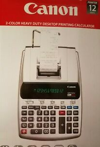 Canon Mp25dv 3 2202c001 12 Digit Desktop Printing Calculator Gray