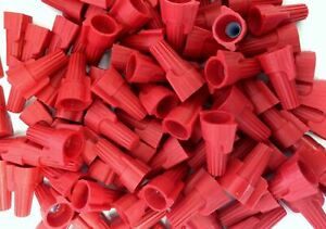 500 Pcs Red Winged Screw on Nut P13 Wire Connectors Twist on Bag 8 18 Awg