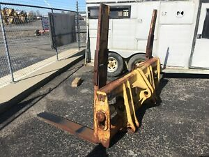 Wicker Log And Lumber Forks Komatsu Wa180 Very Nice Wheel Loader