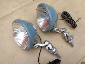 Nos S m Driving Lights Original Vintage Accessory Pair 711 Lamps Ford Chevy Gmc