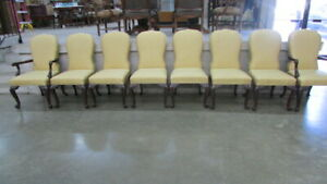 Set Of Eight Henredon Dining Room Chairs Two Arm Chair
