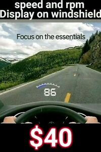 Hudly Lite Head Up Display Hud For Car Speed And Rpms