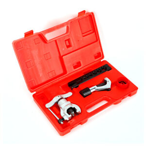 Flaring Tool Kit For Soft Copper Brass Aluminum Pipe 7 Die Sizes