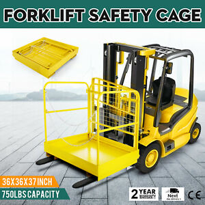 36 36 Forklift Work Platform Safety Cage Stability Built in Chains Rust free