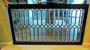 Antique American Beveled Leaded Stained Window C 1890 1900 X Large