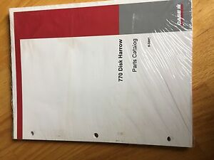 Case 770 Disk Harrow Tractor Parts Book Catalog Manual Tractor International