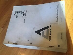Allis Chalmers Allis Chalmers Hd11 11 Crawler Dozer Parts Catalog List Manual
