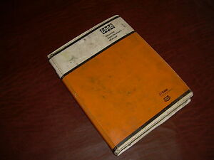 Case Construction Equipment Machine Specifacations Manual 1976