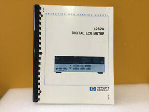 Hp Agilent 04262 90007 4262a Digital Lcr Meter Operating Service Manual
