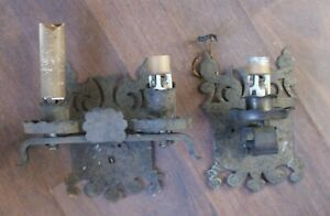 Antique Early 20th Century Spanish Revival Iron Double Single Wall Sconces