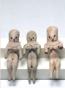 Three Indus Valley Fertility Idols Ca 1800 B C Central Asia Early Goddess