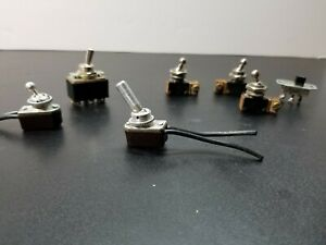 Vintage Lot Of 7 Toggle Switches Leviton A h h C h Contintental Wire