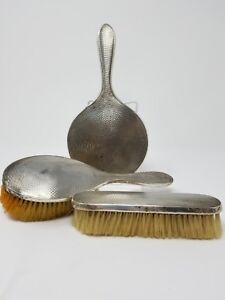 Antique Sterling Silver Hand Mirror Brush By Henry Matthews Birmingham 1930