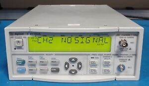 Agilent 53150a 001 20ghz Cw Microwave Frequency Counter W oven Time Base Option