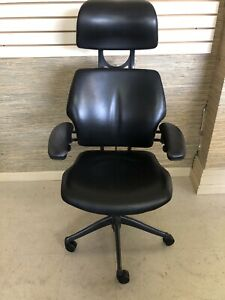 Leather Humanscale Freedom Task Chair With Headrest Advance Arms