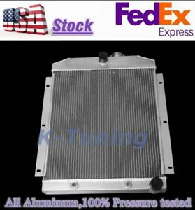 3 Row Aluminum Radiator For 47 54 48 49 50 Chevy 3100 3600 3800 Truck 20 W Core