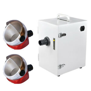 Dental Lab Digital Single row Dust Collector Vacuum Cleaner 2 Suction Base New