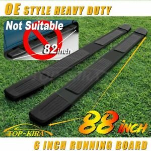 For 2015 2021 Ford F150 Super Crew Cab 6 Running Board Side Step Nerf Bar Blk S
