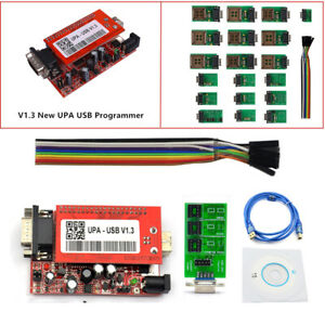 2018 V1 3 New Upa Usb Programmer System With Full Adaptors With Nec Function Kit