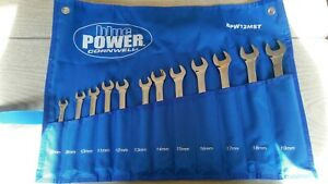 Cornwell Blue Power 12pc Combination Wrench Set Metric 12pt Bpw12mst 8mm 19mm