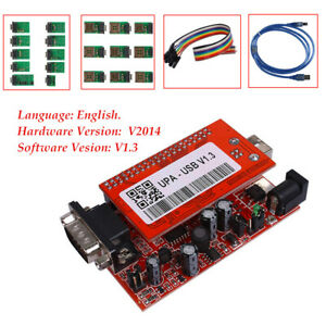New V1 3 New Upa Usb Programmer With Full Adaptors With Nec Function Set