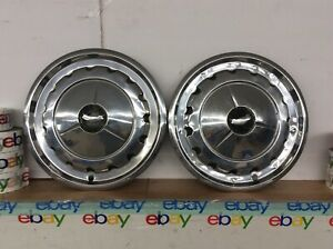 57 1957 Chevrolet Rare Vintage 57 Chevy 14 Hubcaps 2 Wheel Covers Oem