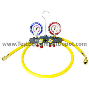 Yellow Jacket 49968 Titan 4 valve Test Charge Manifold Psi f