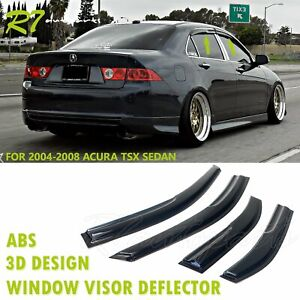 Fit 2004 08 Acura Tsx 4 Door Smoked Rain Guard Wind Deflector Vent Window Visors