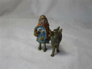 Austrian Vienna Bronze Little Red Riding Hood Wolf C1900 Bergmann Antique Rare