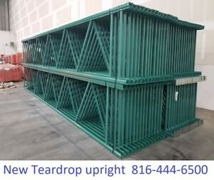 New Teardrop Pallet Rack 16 X 42 Upright Frame Green Tower