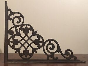 Antique Victorian Ornate Cast Iron Shelf Or Wall Bracket Architectural Salvaged