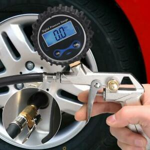 Digital Led Tire Inflator With Pressure Gauge Dual Air Chuck 0 1 Psi Resolution