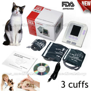 Cat dog animal vet Veterinary Digital Blood Pressure Monitor 3 Cuffs pc Software
