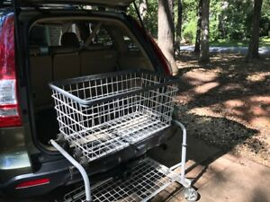 Auto Cart Cargo Foldable And Collapsible Organizer On Wheels