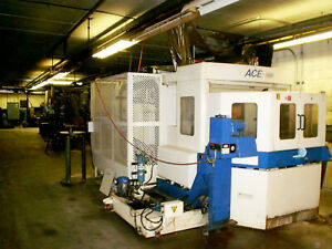 2000 Daewoo Ace H 500 Horizontal Machining Center Under Power